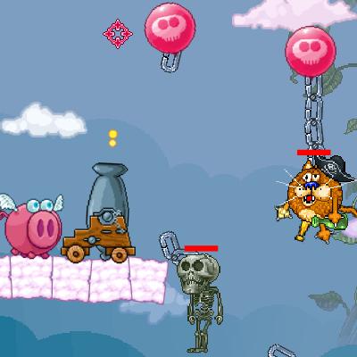 Гра Гармата Свинки проти Піратів, Привидів і Скелетів