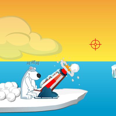 Гра Руйнування: Підстрелив Пінгвіна Сніжками