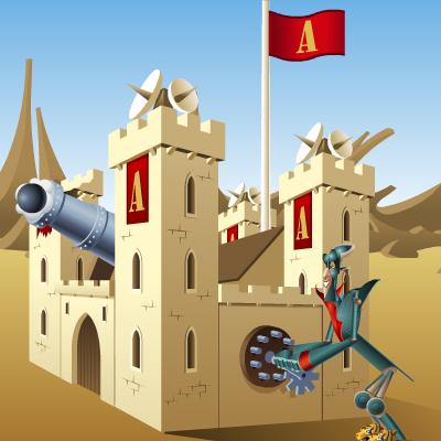 Гра Руйнування Замків: Обмін Пострілами