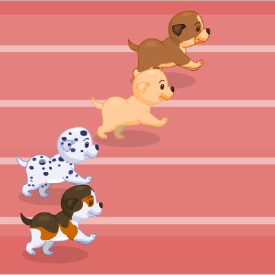Гра Собаки: Гонка Цуценят