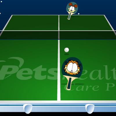 Гра Настільний Теніс: Гарфілд