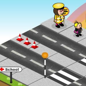 Гра Школа: Перетнути Трасу