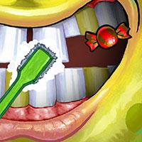 Гра Губка Боб чистить зуби