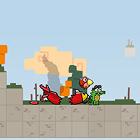 Гра Класний Крокодил і Пташка - грай онлайн безкоштовно!!
