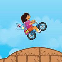 Гра Даша Слідопит катається на велосипеді