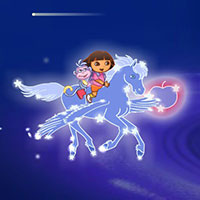 Гра Даша літає на чарівному коні: грай безкоштовно онлайн!!
