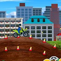 Гра Лего стрибки на мотоциклах