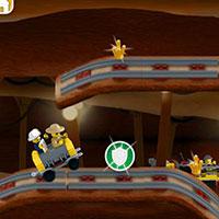 Гра Лего: По рейках за кристалами!!