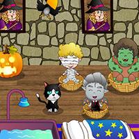 Гра Догляд за малюками в Хеллоуін