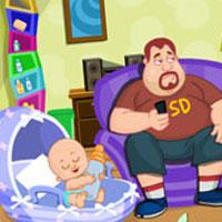 Гра Догляд за малюками: Супер-тато