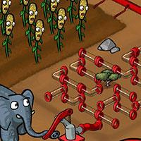 Гра Слон поливає город