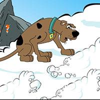 Гра Скубі Ду катається на сноуборді