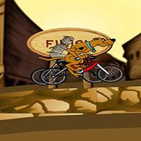Гра Скубі Ду у велосипедних гонках