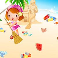 Гра Прибирання на пляжі: грай безкоштовно онлайн!