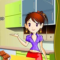 Гра Кухня Сари: М'ясні квадратики