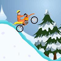 Гра Наруто на мотоциклі взимку