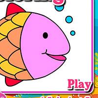 Гра Розмальовка: Рибки в акваріумі