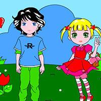 Гра Розмальовка: Хлопець і дівчина