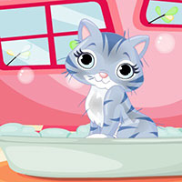 Гра Барбі доглядає за котятками