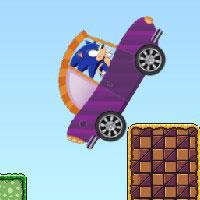 Гра Сонік збирає монети на машині