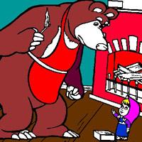 Гра Маша і ведмідь розпалюють камін