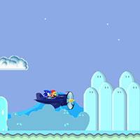 Гра Сонік літає на літаку