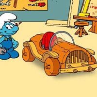Гра автомобіль смурфа Хенді