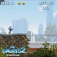 Гра Смурфики пробіжка Розтяпи по центральному парку