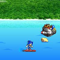 Гра Сонік наздоганяє лиходія на серфі