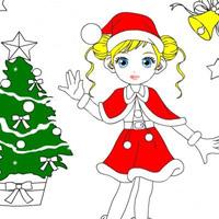 Гра Новий Рік Розфарбуй Снігуроньку