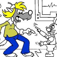 Гра Ну Постривай розмальовка: Ну, заєць, постривай!