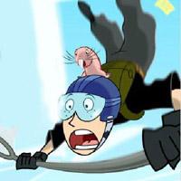 Гра Кім 5 з Плюсом: Рон стрибає з парашутом