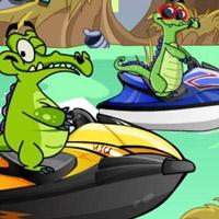 Гра Крокодильчик Свомпі: Гонки на гідроциклах