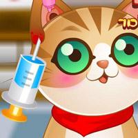 Гра Лікарня: Доктор лікує вухо кішки
