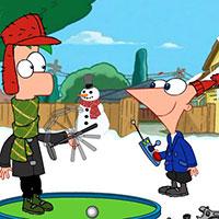 Гра Фініс і Ферб грають у гольф