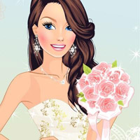 Гра Квіткове весілля: одягалка з нареченими для дівчаток