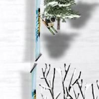 Гра Спорт: Спуститися з горки на лижах або сноуборді