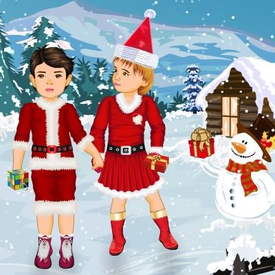 Гра одевалка на Новий Рік