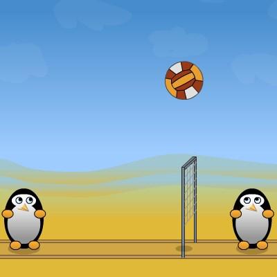 Гра волейбол на двох для дівчаток