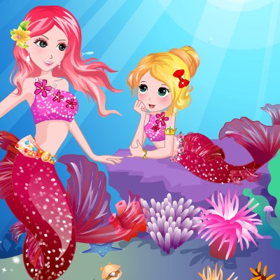 Гра Одевалка русалочки і її дочки