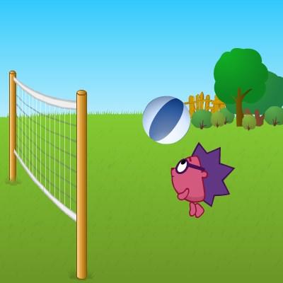 Гра волейбол зі Смішариками на двох