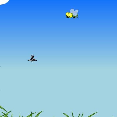 Гра жаби: Ловля комарів