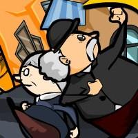 Гра Бійки: Дід і бабка боксируются удвох