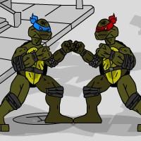 Гра Бійки на двох з Черепашками Ніндзя