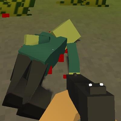 Гра в кубічних Зомбі в стилі Майнкрафта