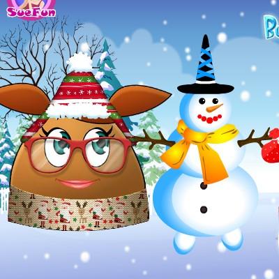 Гра Поу дівчина ліпить сніговика