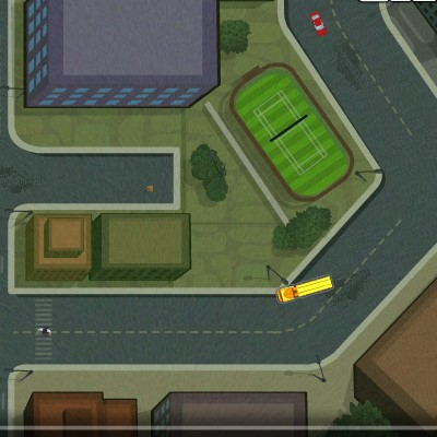 Гра їзда на американському атобусе