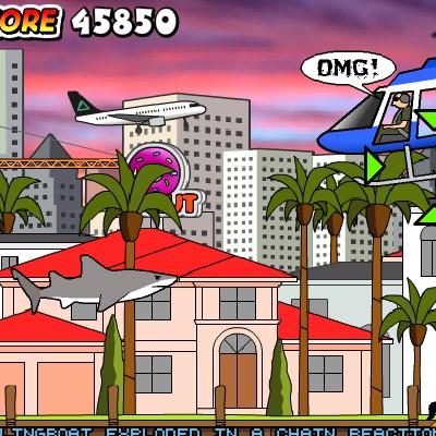 Гра Акула їсть людей в Маямі