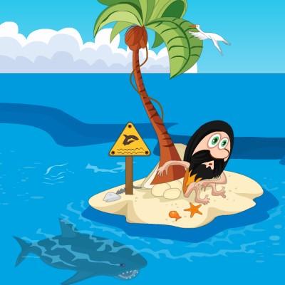 Гра Атака Акул: Острів