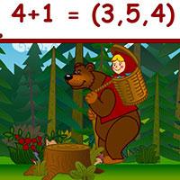 Гра Маша і Ведмідь відповідають на питання